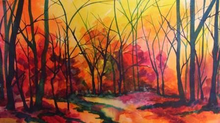 Paintings of Autumn Scenes Autumn Landscape Paintings
