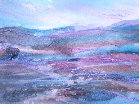 mixed media landscape painting