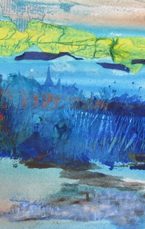textured field painting