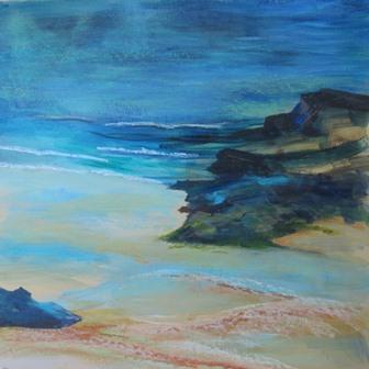 Godrevy Beach, St Ives, Cornwall