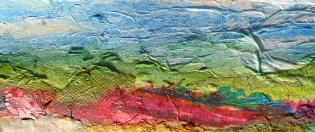 mixed media landscape painting