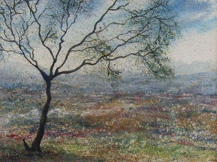 Spring tree painting